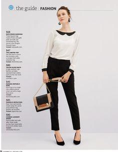 Calça preta + blusa branca + scarpin preto