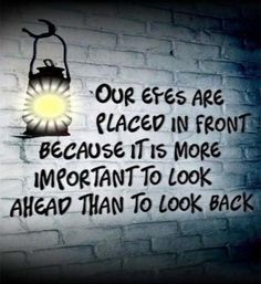 Our eyes are placed in front