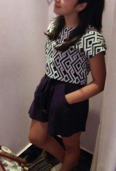 Skirt + T-shirt..🎀👑 thank u gorgeous.💋