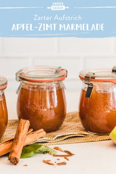 Perfect for autumn, but also a real treat all year round. Now try our simple apple and cinnamon jam and let the fine spread melt on your tongue. cinnamon jam # apple season jam Apple and cinnamon jam einfach backen einfachbacken Ohne Jam Recipes, Apple Recipes, Drink Recipes, Healthy Eating Tips, Healthy Foods To Eat, Healthy Nutrition, Summer Desserts, Summer Recipes, Summer Drinks