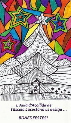 Bones Festes! | Aula d'Acollida Llagostera – Escola Lacustària Christmas Art Projects, Christmas Tree Design, Noel Christmas, Christmas Crafts For Kids, Op Art, Color Wheel Art, High School Art Projects, Art Lessons Elementary, Winter Art