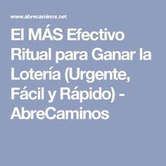 El MÁS Efectivo Ritual para Ganar la Lotería (Urgente, Fácil y Rápido) - AbreCaminos