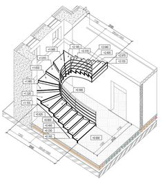 Ideas for your stairs Metal Stairs, Curved Staircase, Staircase Design, Escalier Art, Types Of Stairs, Stair Plan, Indian House Plans, Building Stairs, Stair Detail