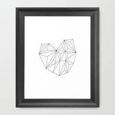 Heart Framed Art Print by Leandro Pita - $35.00