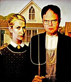 Dwight Schrute & Angela Martin (The Office: American Gothic)