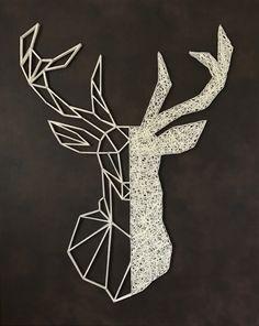 String Art Templates, String Art Tutorials, String Art Patterns, Hilograma Ideas, String Art Diy, Dandelion Art, Diy Crafts To Do, Thread Art, Hanging Wall Art