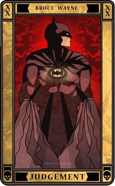 Batman Tarot Card: JUDGEMENT: Judgement predicts a significant life change as a project or relationship reaches a conclusion. Before you can leave the past behind, you may need to examine your conscience and review your previous actions. Judgement offers second chances and an oppertunity for forgiveness, along with financial reward for past efforts that will help your fututre success. Events are about to speed up.FULL LIST OF BATMAN TAROT CARDS