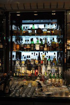 back bar at Bassoon Bar, Corinthia Hotel London. Photo: Carlos Melia