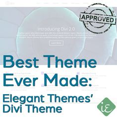 #Best #WordPress #Theme Ever Made - Elegant Themes' Divi Theme | Instant Entity approved - http://instantentity.com (scheduled via http://www.tailwindapp.com?utm_source=pinterest&utm_medium=twpin&utm_content=post370377&utm_campaign=scheduler_attribution)