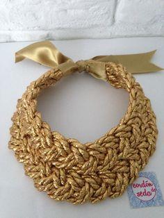 Gold necklace. Tienda.cordondeseda.com
