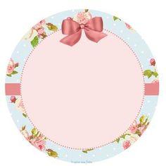 Tag ou toppers para docinho ou cupcake floral