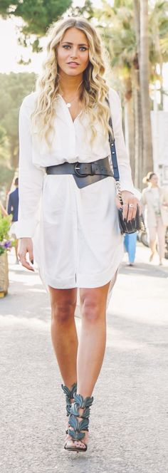 Belted Long Shirt Summer Style