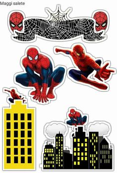 – Oh My Fiesta! for Geeks – Πάρτι Happy Birthday Spiderman, Spiderman Movie, Superhero Birthday Party, Spiderman Cake Topper, Superhero Cake, Birthday Cake Toppers, Free Printables, Geek Stuff, Purple Wedding