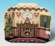 The Night Before Christmas 3D Room Scene Cross Stitch Kit £19.96 | Past Impressions | The Nutmeg Company