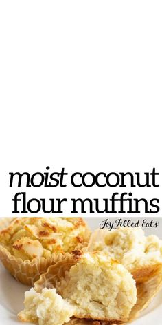 This Coconut Flour Muffins Recipe is a great way to start the day! They are flavorful, simple to make, one of my favorite coconut flour recipes, and are perfect when you are heading out the door and need a quick breakfast idea. Not only are these easy muffins delicious, but they are also Gluten Free, Sugar Free, Dairy Free, Grain Free, Keto, Low Carb, and THM S. Best Low Carb Snacks, Low Carb Desserts, Low Carb Recipes, Coconut Flour Muffins, Coconut Flour Recipes, Sugar Free Recipes, Baking Recipes, Brunch Recipes, Breakfast Recipes