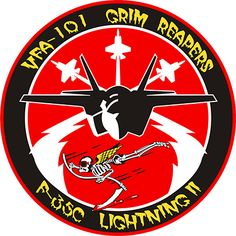 Lightning II Grim Reapers Men's Premium T-Shirt ✓ Unlimited options to combine colours, sizes & styles ✓ Discover T-Shirts by international designers now! Military Units, Military Art, Air Force Patches, Naval Aviator, Navy Mom, Military Insignia, Us Marine Corps, Aircraft Design, Grim Reaper