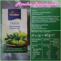 Meßmer Tee Detox Brennnessel-Grüner Tee aus der Degustabox Januar 2015.