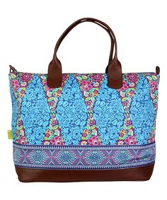 Love this Trapeze Field & Midnight Ribbon Marni Organic Duffel Bag by Amy Butler on #zulily! #zulilyfinds