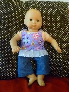 I love making doll clothes
