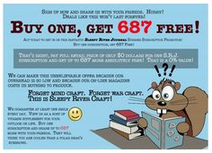 Buy One, Get 687 Free! What a deal! http://thesleepyriverjournal.com/buy-one-get-687-free/
