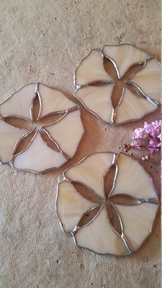 Stained glass sand dollar. Unique original by MooncalfGlass