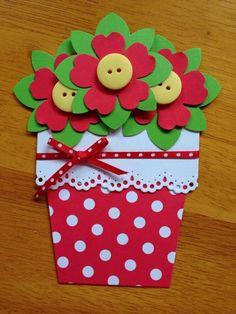 Flower Bouquet handmade card by Shaunelle. paperflower bouquet kraftpaper… Flower Bouquet handmade card by Shaunelle. Kids Crafts, Diy And Crafts, Paper Crafts, Flower Cards, Paper Flowers, Mother's Day Diy, Mothers Day Crafts, Button Crafts, Valentine Crafts