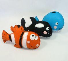 Felt Ocean Animal PATTERNS // Sew by Hand by LittleHibouShoppe