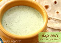 I put in an extra jalapeno but it was pretty close an super good!  Copycat Cafe Rio's Ranch Dressing I hope this is really close cause I am addicted to this stuff