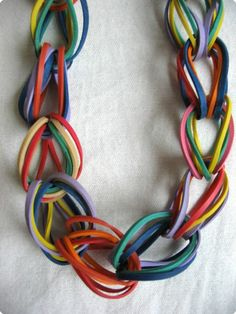 Rubber band chain