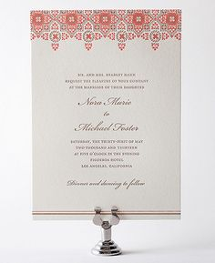 Hello Lucky! MARRAKESH Wedding Invitation