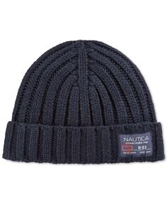 1dfe492970b Nautica Solid Ribbed Cuffed Beanie Manly Man