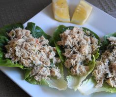 Mayo-Free Tuna Salad Lettuce Wraps