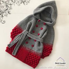 Girls Knitted Dress, Crochet Baby Poncho, Newborn Crochet Patterns, Beginner Knitting Patterns, Baby Girl Dress Patterns, Baby Hats Knitting, Crochet Baby Clothes, Crochet Jacket, Knitting For Kids