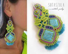 Soutache earrings necklaces and bracelets. por sutaszula en Etsy