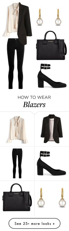 """Untitled #234"" by welcome-to-newyork on Polyvore featuring Yves Saint Laurent, Chicwish, J Brand, David Yurman and Karl Lagerfeld"