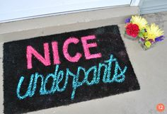 12 fun #DIY doormat and welcome mat projects!