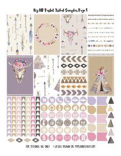 FREE Pastel Tribal Sampler Planner Printable by myplannerenvy.com