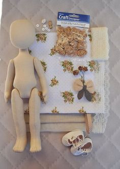 Doll sewing set. Set for doll body the body of the doll made