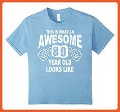 Kids 80th Birthday 80 Years Old 1937 T-Shirt 6 Baby Blue - Birthday shirts (*Partner-Link)