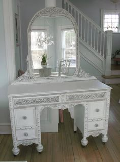 Vanity - White - Antique Shabby Chic Furniture on Etsy, $575.00