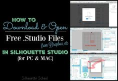 How to Open Free Files in Silhouette Studio on MAC and PC (Downloaded from Dropbox, Etc)