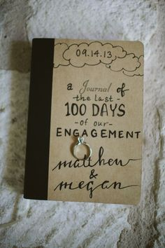 wedding morning gift ideas - engagement journal