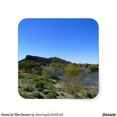 Oasis In The Desert Square Sticker