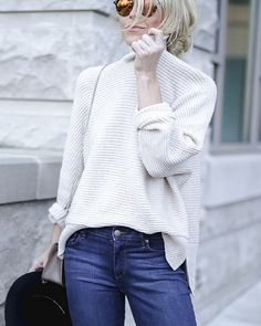 Thanks to @happilygrey, you'll definitely find us cozied up in our Fireside Sweater this week. #ootd #loveloft
