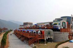train houses | Train pension house in Korea