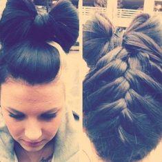 Hair Bow. Braid. <3