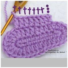 Tutorial en imàgenes de botitas para bebe realizadas al crochet decoradas con puntilla