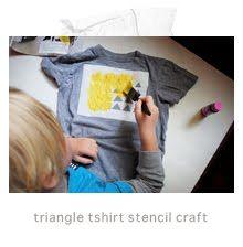 DIY triangle print on a t-shirt