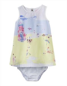 Gorgeous woven dress with beach print by the fabulous Joules. Lightweight baby dress perfect for summer. Joules, Unique Baby, Baby Wearing, Baby Dress, Kids Fashion, Boutique, Beach Print, Ss16, Shopping