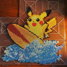 Pikachu perler beads by pokemon.geek.boutique